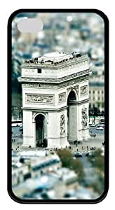 Triumphal Arch Paris TPU Silicone Case Cover for iPhone 4/4S ¡§CBlack