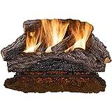 24 in. Charred River Oak Vented Natural Gas Log Set
