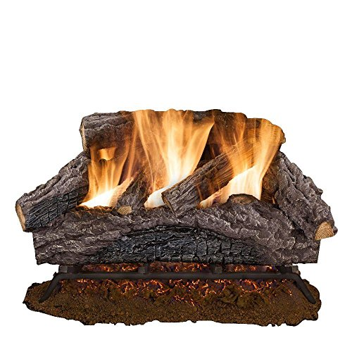 24 in. Charred River Oak Vented Natural Gas Log Set ()