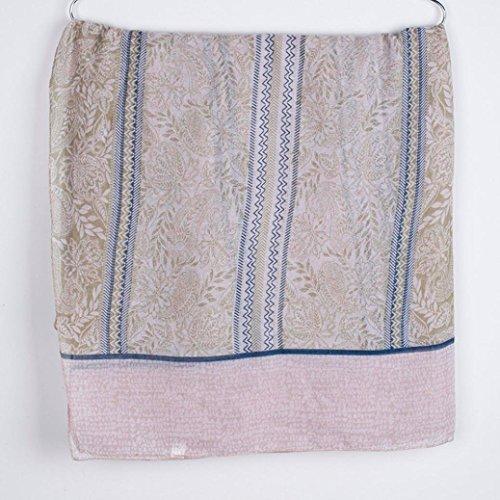 Scialle Fashion Verde Retro Sciarpa Foglie Versatile Adeshop Autunno Casual Sciarpa Donna Stampa Sciarpa Donna Sciarpe d5qapRw
