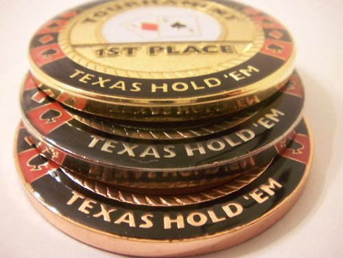 3 Coin Poker Guard Tournament Trophy Set by pokerweights