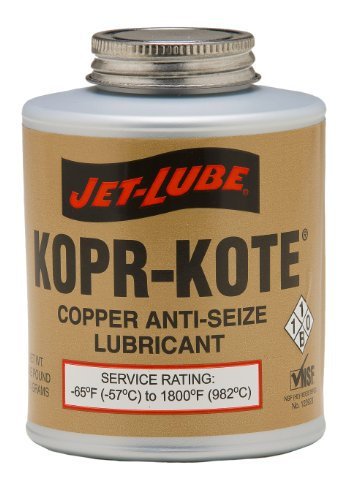 Jet-Lube Kopr-Kote Industrial Anti-Seize and Thread Lubricant, 1 lbs Brush Top Can ()