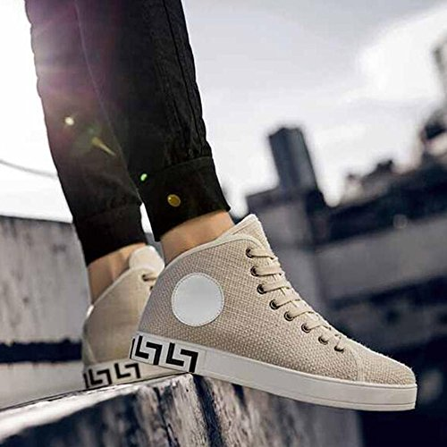 Men's Shoes Feifei Summer Fashion Personality Movement Leisure Breathable Tide Shoes 4 Colors (Color : Khaki, Size : EU43/UK9/CN44)