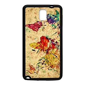 Watercolor world map Cell Phone Case for Samsung Galaxy Note3