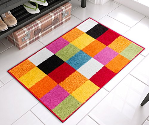Modern Bright Rug Starbright Square Geometric Mat Accent Area, 20
