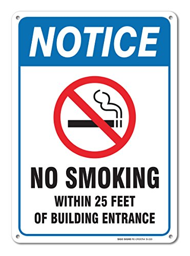 Smoking Large Within Building Entrance