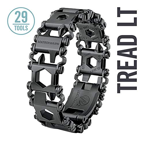 LEATHERMAN - Tread LT Bracelet, The Smaller Travel Friendly Wearable Multitool, Built in the USA, Black