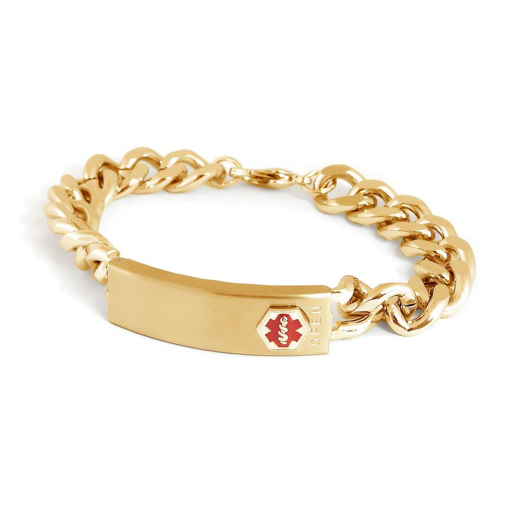 Speidel Medilog Medical Alert Bracelet in Gold Tone 00300430