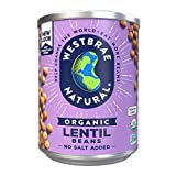 Westbrae Natural Organic Lentils, 15 Ounce (Pack of 12) -  Packaging may vary