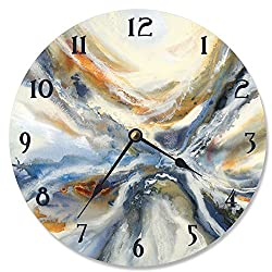 Stupell Industries Abstract Geode Red and Blue Vanity Clock, Proudly Made in USA