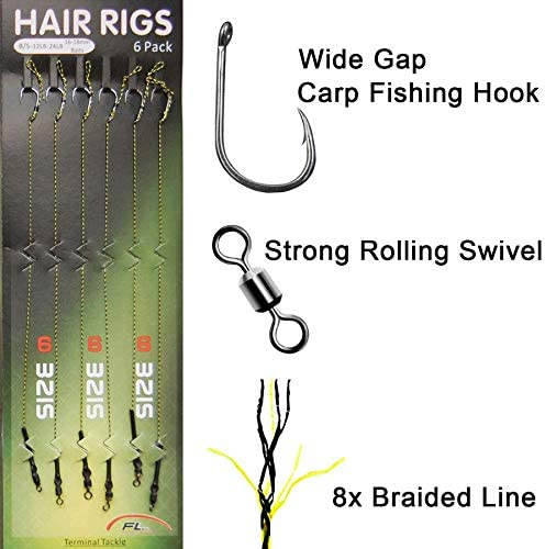 5 xFishing Tackle Ready Tied Rigs for pop ups Hooks Weights Hair rig Swivels