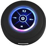 phoneix LED Bluetooth Altavoz ducha baño impermeable al aire última intervensión, Negro