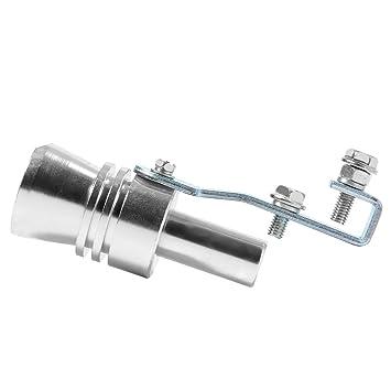 XCSOURCE Turbo Sound Whistle Tubo de escape Tubo de escape BOV Blow-off Valve Simulator Silver Size XL para coche Motorcycle MA417: Amazon.es: Coche y moto