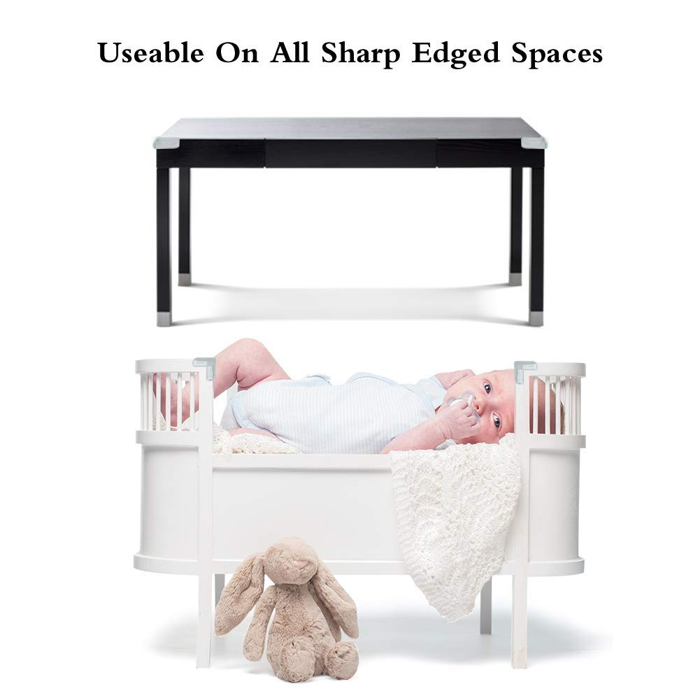 L-Shaped Furniture with 3M Adhesive Etmury 20 Pack Baby Proofing Corner Guards Safe Corner Cushion,Baby Proof Edges Corner Bumpers for Tables Clear Corner Protectors