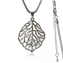 Dancing ZoneJewellery Beat Selling Crystal Jewelry Lead-Tin Alloy Plated Lovely Leaf Long Necklace Sweater Chain -Nl