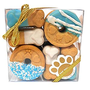 Claudia'S Canine Cuisine Signature Gift Box Of Dog Cookies, 7-Ounce, Blue Buddies