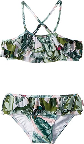 Seafolly Little Girls' Frill Tankini Swimsuit, Moss, 4 - Frill Tankini Set