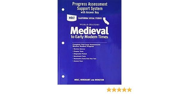 Holt World History California Program Assessment System