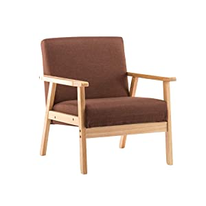 WANGJIN-Divano per bambini Sofa Collection Small Linen Tub Chair/Sofa Seating Dining Chair Soggiorno Ristorante (Brown) 71 X 52 X 65cm