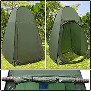 portable privacy shower toilet camping pop up tent green sports outdoors. Black Bedroom Furniture Sets. Home Design Ideas