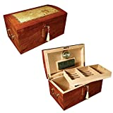 Prestige Import Group - The Broadway Cigar Humidor - Color: Lacquer Burl w/ Mappa Wood Inlay