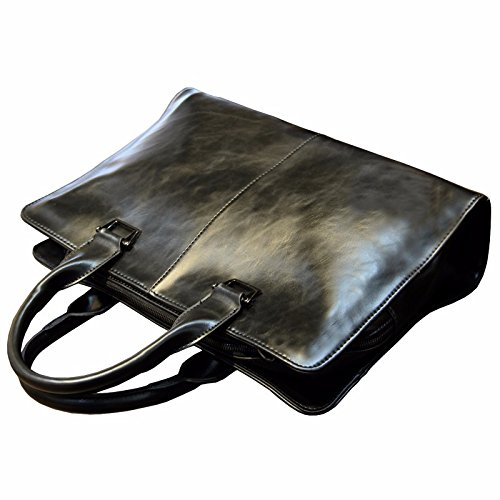 ZHUDJ Metrosexual Fashion Leisure Bag Bag Bag Briefcase Business Men Retro British Style Handbag Crossbody Bag,Black black