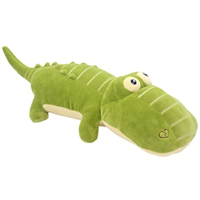 TAGLN Stuffed Animals Alligator Toys Pillows The Crocodile Plush Green 20 Inch: Toys & Games