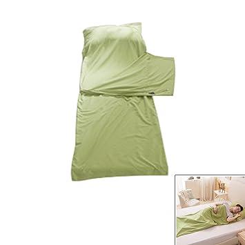 Saco de Dormir Liner Bolsa de Viaje Camping Funda Sencilla y Fina de Cama Doble de