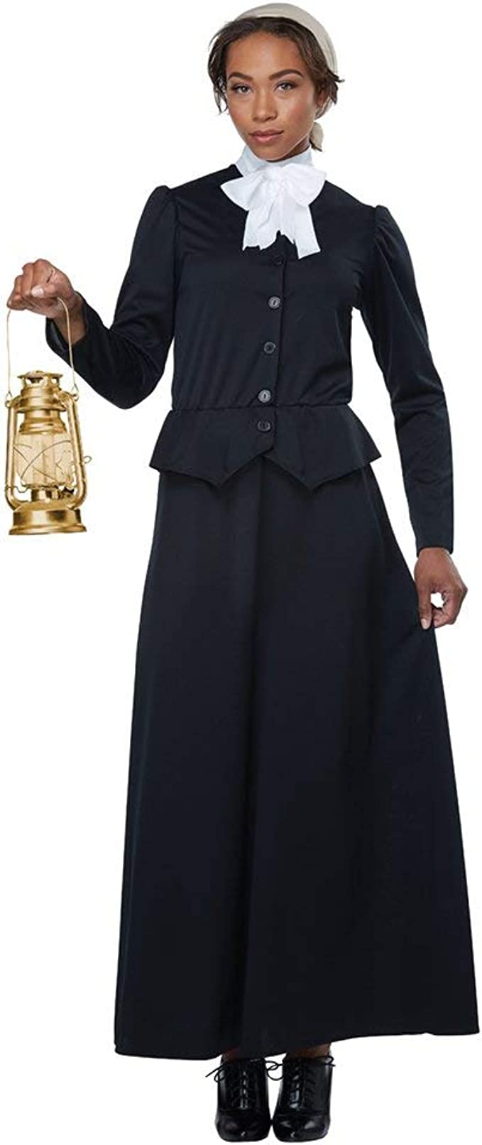 1900s, 1910s, WW1, Titanic Costumes California Costumes Womens Susan B. Anthony - Harriet Tubman - Adult Costume Adult Costume Black/White Small $41.88 AT vintagedancer.com