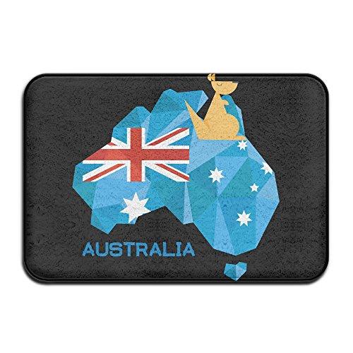 Cashmere Fixture (FRICSTAR Doormats Stralia Flag Map Australia National Pride Cool Outdoor Mats Doormat Coral Fleece Indoor Outdoor Kitchen Floor Rug Front Door Mat Funny Flannel Carpet 15.7