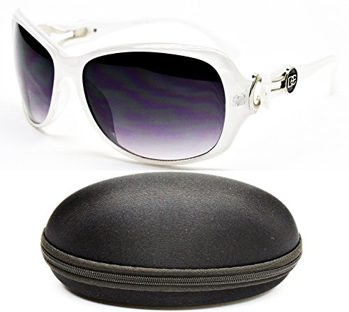 DE5020-CC Oversized Womens Designer Eyewear Sunglasses (5020 Crystal - Sunglasses White Dg