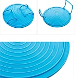 MAZIMARK--Insulating Plate Bowls Holder Multifunction Microwave Oven Rack Double Layer