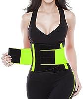SHAPERX Camellias Women Waist Trainer Belt Body Shaper Trimmer for Weight Loss Workout Fitness