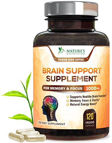 Brain Supplement Highest Potency Nootropic Booster 1000mg - Memory Pills for Better Focus & Clarity, Made in USA, Best Natural Mental Performance & Concentration Support - 120 Capsules