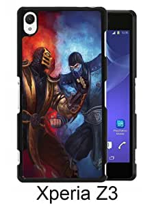 Fashionable Sony Xperia Z3 Case ,Unique Designed With mortal kombat scorpion sub zero punch ice fire black Sony Xperia Z3 Cover High Quality Phone Case