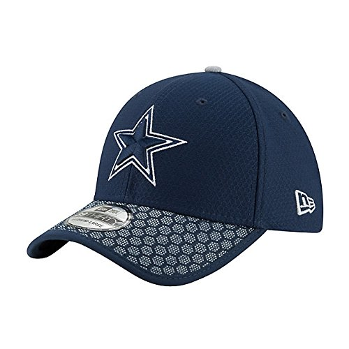 Dallas Cowboys Cap - New Era Dallas Cowboys Navy Sideline 39THIRTY Hat/Cap Medium/Large