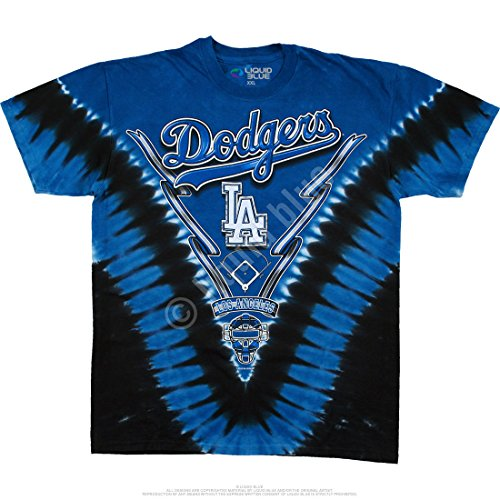 Liquid Blue Men's Dodgers V T-Shirt, Tie Dye, Large for sale  Delivered anywhere in USA