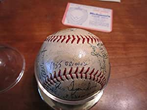 1955 baltimore orioles Team Signed Baseball 31 sigs