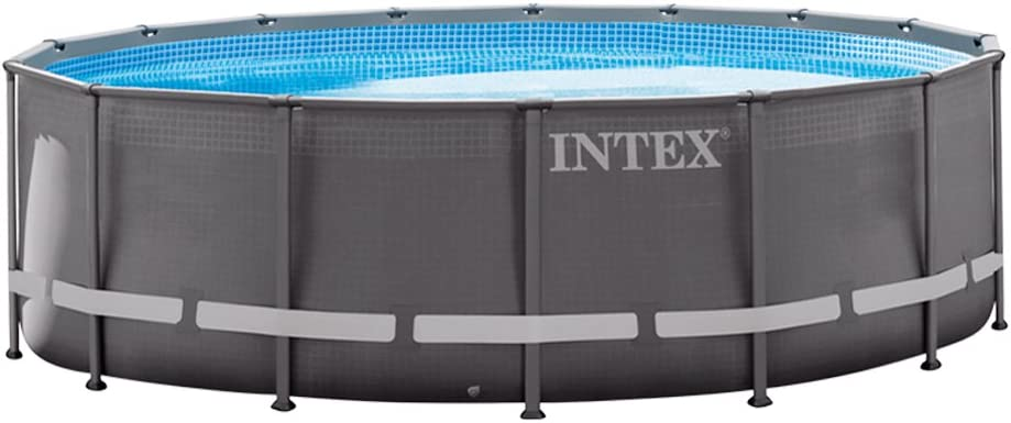 Intex Ultra Frame Piscina Desmontable, 19156 litros, Gris, 488x488x122 cm