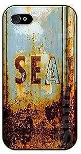 "iPhone 6 (4.7"") Sea, metal - black plastic case / Walt Disney And Life Quotes"