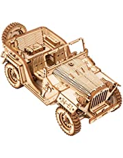 ROKR 3D Wooden Puzzles for Adults Mechanical Models Kits to Build