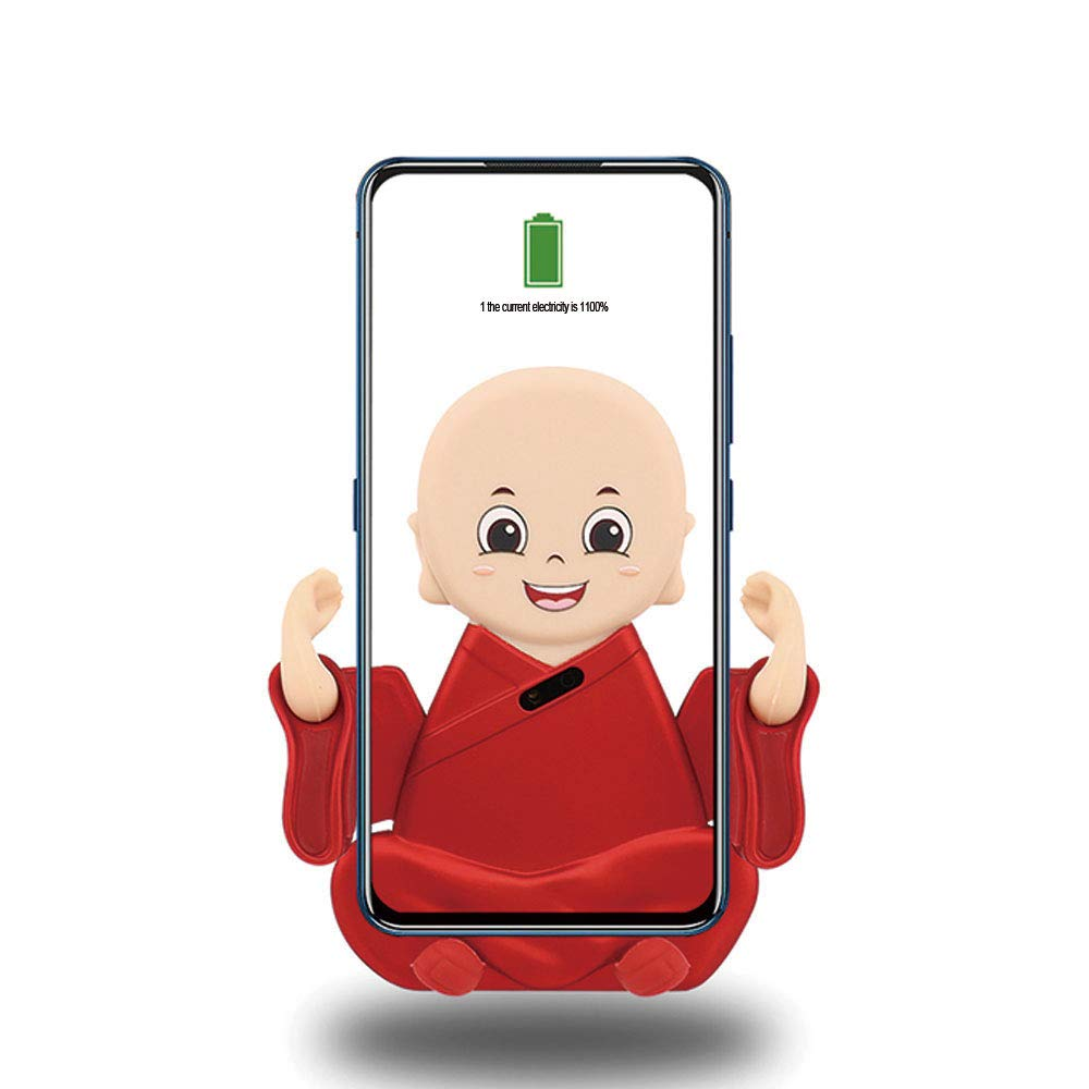 Small Monk Car QI Wireless Charging Mobile Phone Bracket Red (red)