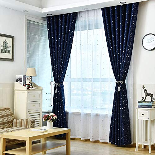BeautyShe Geometric Figure Printing Transparent Sheer Curtains Triangle Pattern Living Room Sheer Tulle Curtains Rod Pocket Process for Children Kids Room 1 Panel 3.3x8.2 ()