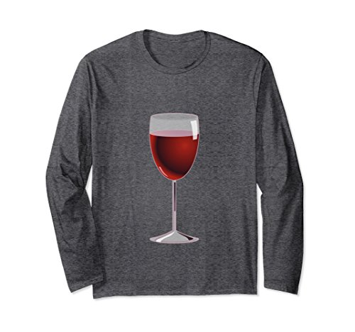 Unisex Long Sleeve Wine Glass Costume T-Shirt Matching Cheese Pair Medium Dark - Minute Outfit Ideas Last Halloween