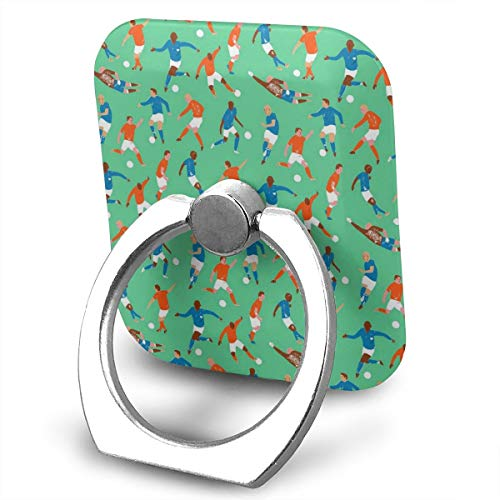 Cell Phone Finger Ring Stand Soccer Character Pattern 360°Rotation Suitable for Most Smartphone
