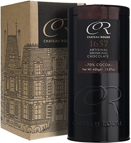 Chateau Rouge - 1657 Artisanal 70% Dark Hot Drinking Chocolate, 450g tin