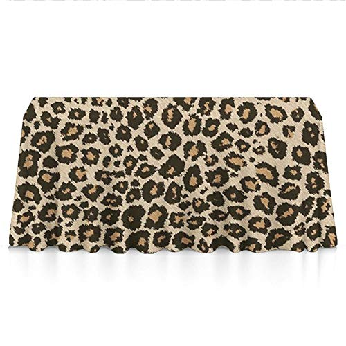 Washable Tablecloth, Rectangle Table Cover Great for Kitchen Dinning Tabletop Buffet Decoration (60x90 Inch, Cool Leopard Skin)]()