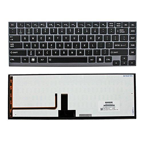 Toshiba Portege Keyboard - New US Black Backlit English Keyboard Compatible Toshiba Portege Z835-P330 Z835-P360 Z835-P370 Z835-P372 Z835-SP3201M Z835-SP3202M Z835-SP3203M Z835-SP3240L Z835-SP3241L Z835-SP3242L Light Backlight