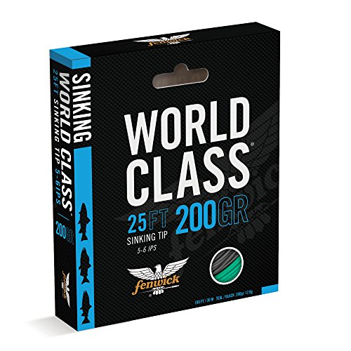 Fenwick Wcflst350 World Class Sink Tip Line, Black/Teal, 100'/ 350 Grains
