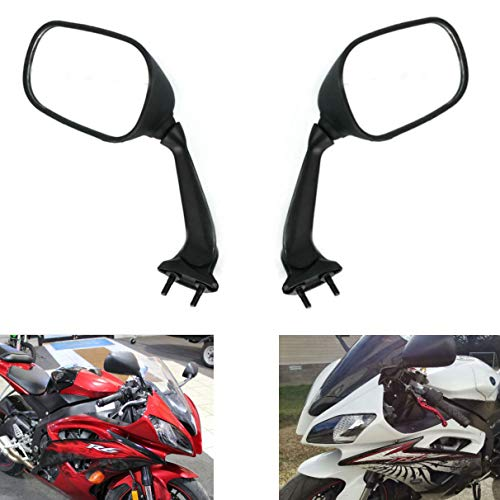 2009 Yamaha Motorcycles - MZS Motorcycle Mirrors Rear View compatible Yamaha YZF R6 YZF-R6 RJ15 2008 2009 2010 2011 2012 2013 2014 2015 2016